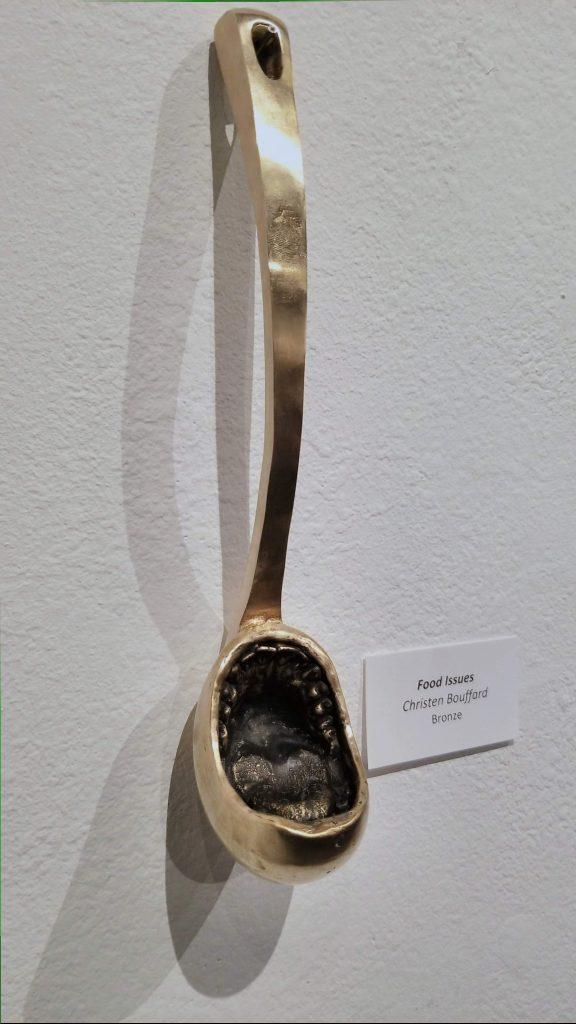 A bronze ladle